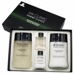 Увлажняющий освежающий набор для мужчин 3W Clinic Homme Classic Moisturizing Freshness Skin Care Set