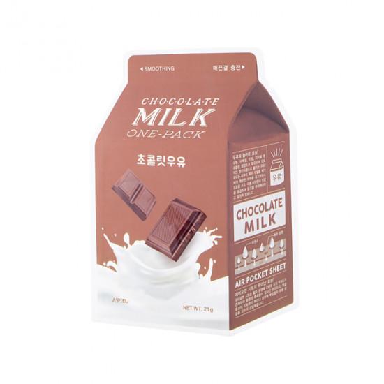 Смягчающая тканевая маска с молочными протеинами и экстрактом какао A'Pieu Chocolate Milk One-Pack