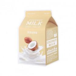 Увлажняющая тканевая маска с молочными протеинами и экстрактом кокоса A'Pieu Coconut Milk One-Pack