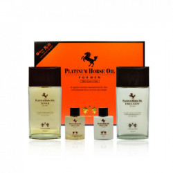 Набор средств для мужчин с гиалуроновой кислотой и лошадиным жиром Aspasia Christian Dean Platinum Horse Oil for man Skin care