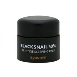 Ночная маска для лица с муцином чёрной улитки Ayoume Black Snail Prestige Sleeping Pack