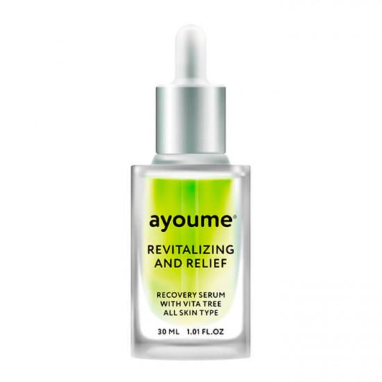 Восстанавливающая сыворотка для лица с экстрактом зелёного чая Ayoume Vita Tree Revitalizing & Relief Serum