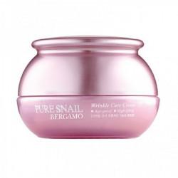 Омолаживающий крем с муцином улитки Bergamo Pure Snail Wrinkle Care Cream