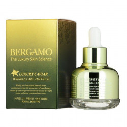 Омолаживающая сыворотка против морщин с экстрактом икры Bergamo Luxury Caviar Wrinkle Care Ampoule, 30 мл