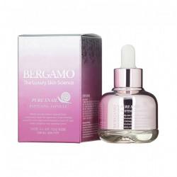 Сыворотка для сияния кожи с муцином улитки Bergamo Pure Snail Whitening Ampoule 30 мл