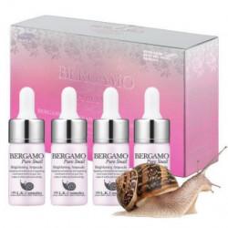 Сыворотка для сияния кожи с муцином улитки Bergamo Pure Snail Brightening Ampoule, 13 мл