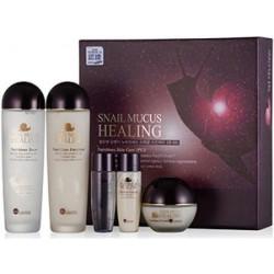 Набор для сухой и чувствительной кожи лица с муцином улитки Bergamo Ellelhotse Nutrition Snail Skin Care Set