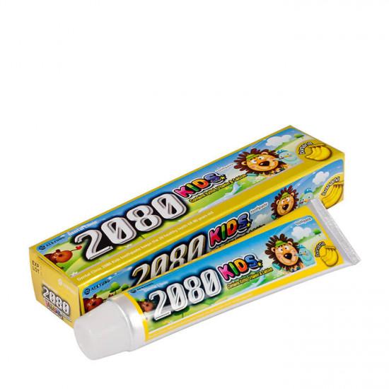 Детская зубная паста для укрепления эмали с банановым вкусом Dental Clinic 2080 Kids Toothpaste Banana