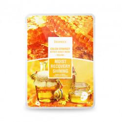 Тканевая маска для питания и омоложения на основе фильтрата улитки и мёда Deoproce Color Synergy Effect Sheet Mask Yellow