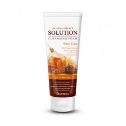 Пенка для умывания лица на основе бурого сахара и мёда Deoproce Natural Perfect Solution Cleansing Foam Pore Care