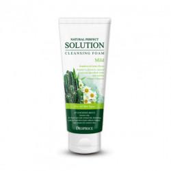 Мягкая пенка для умывания лица с экстрактом кактуса Deoproce Natural Perfect Solution Cleansing Foam Mild