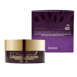Крем для лица со змеиным пептидом для интенсивного разглаживания морщин Deoproce Syn-Ake Intensive Wrinkle Care Cream
