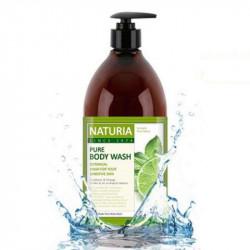 Увлажняющий гель для душа с освежающим ароматом мяты, эвкалипта и лайма Evas Naturia Pure Body Wash Wild Mint & Lime