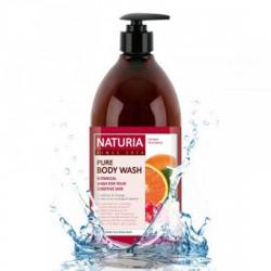 Увлажняющий гель для душа с фруктовым ароматом апельсина, клюквы и зеленого яблока Evas Naturia Pure Body Wash Cranberry & Orange