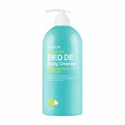 Гель для душа с освежающим ароматом лимона, зеленого чая и мяты Evas Pedison Deo De Body Cleanser