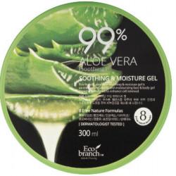 Успокаивающий гель для тела с алое Eco Branch Aloe Vera Soothing & Moisture Gel