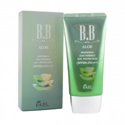 Антивозрастной BB крем для лица с экстрактом Алоэ Ekel Aloe BB Cream SPF50+PA++