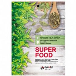 Увлажняющая тканевая маска для лица с экстрактом зелёного чая Eyenlip Super Food Mask Green Tea