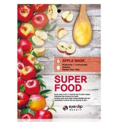 Увлажняющая тканевая маска для лица с экстрактом яблока Eyenlip Super Food Mask Apple