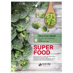 Успокаивающая тканевая маска для лица с экстрактом брокколи Eyenlip Super Food Mask Broccoli