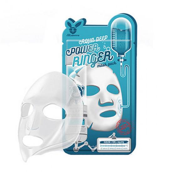Увлажняющая тканевая маска для лица с гиалуроновой кислотой Elizavecca Aqua Deep Power Ringer Mask Pack