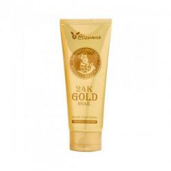 Пенка для умывания с муцином улитки и 24К золотом Elizavecca 24K Gold Snail Cleansing Foam