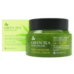 Увлажняющий балансирующий крем для кожи лица с экстрактом зелёного чая Enough Bonibelle Green Tea Fresh Moisture Control Cream