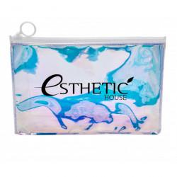 Прозрачная голографическая косметичка-хамелеон на молнии Esthetic House Holographic Cosmetic Bag