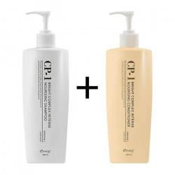 Шампунь + Кондиционер для волос Esthetic House CP-1 Bright Complex Intense Nourishing Set v2.0, 500 мл + 500 мл