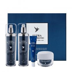 Набор из 4 интенсивно увлажняющих средств для кожи лица и век с экстрактом ласточкиного гнезда Esthetic House Ultra Hyaluronic Acid Bird's Nest Skin Care Set