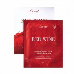 Антиоксидантная гидрогелевая маска для омоложения и упругости кожи лица с экстрактом красного вина Esthetic House Red Wine Regenerating Solution Hydrogel Mask Pack