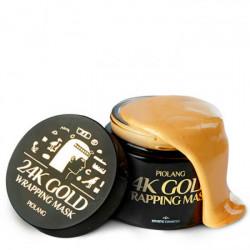 Обволакивающая маска-плёнка для лица с 24 каратным золотом Esthetic House Piolang 24K Gold Wrapping Mask