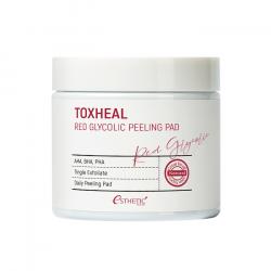 Пилинг-подушечки с гликолевой кислотой Esthetic House Toxheal Red Glycolic Peeling Pad