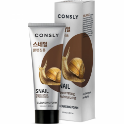 Пенка для умывания с муцином улитки Consly Creamy Cleansing Foam Snail Mucus Regenerating
