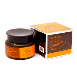 Крем для лица с лошадиным маслом для сухой кожи FarmStay Jeju Mayu Complete Horse Oil Cream