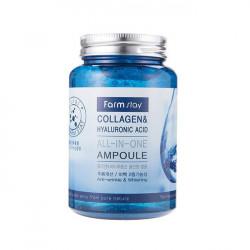Многофункциональная ампульная сыворотка с коллагеном и гиалуроновой кислотой Collagen & Hyaluronic Acid All-In-One Ampoule