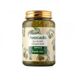 Питательная сыворотка для лица с маслом авокадо FarmStay Avocado All-In-One Intensive Moist Ampoule