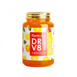 Многофункциональная витаминная сыворотка для лица FarmStay Dr-V8 Vitamin Ampoule