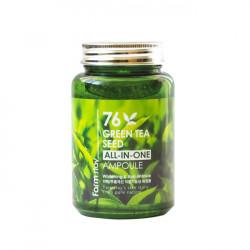 Многофункциональная сыворотка для лица с экстрактом семян зеленого чая FarmStay 76 Green Tea Seed All-In-One Ampoule
