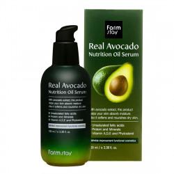 Сыворотка для увлажнения и питания кожи лица с маслом авокадо FarmStay Real Avocado Nutrition Oil Serum