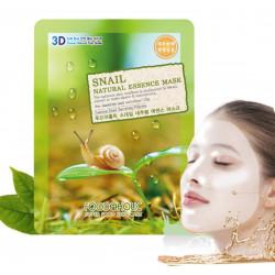 Тканевая маска для лица с экстрактом секрета улитки FoodaHolic Snail Natural Essence 3D Mask