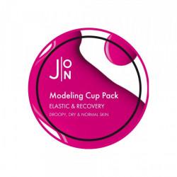 Альгинатная маска для эластичности и восстановления кожи лица J:ON Elastic & Recovery Modeling Pack, 18 гр