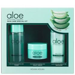 Набор миниатюр с экстрактом алоэ для ухода за лицом Holika Holika Aloe Soothing Essence Skincare Special Kit