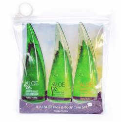 Набор средств для лица и тела на основе сока алоэ вера Holika Holika Jeju Aloe Face and Body Care Set