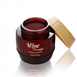 Ночная антивозрастная маска для лица с экстрактом французкого красного вина Holika Holika Wine Therapy Sleeping Mask Red Wine