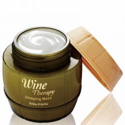 Ночная несмываемая винная маска для лица с экстрактом белого вина Holika Holika Wine Therapy Sleeping Mask White Wine