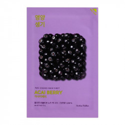 Витаминизирующая тканевая маска для лица с ягодами асаи Holika Holika Pure Essence Mask Sheet Acai Berry