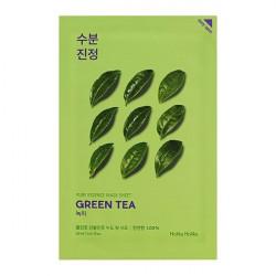 Противовоспалительная тканевая маска для лица с зелёным чаем Holika Holika Pure Essence Mask Sheet Green Tea