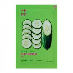 Успокаивающая тканевая маска для лица с экстрактом огурца Holika Holika Pure Essence Mask Sheet Cucumber
