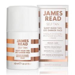 Ночная маска для лица уход и загар тёмная James Read Self Tan Sleep Mask Tan Go Darker Face